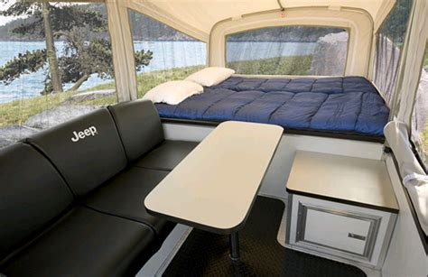 jeep tent inside jeep cer trailer inside