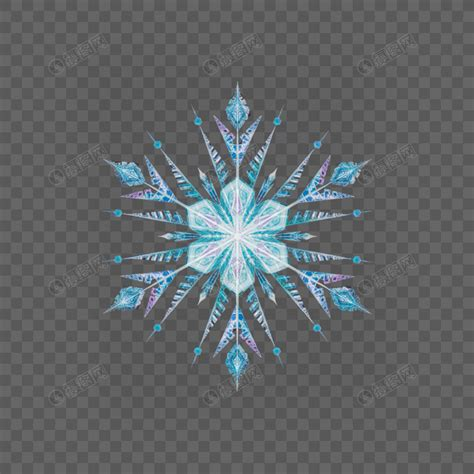 snowflake ice crystal element png imagepicture