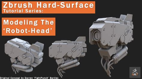 zbrush tutorial robot gumroad zbrush 4r7 robot head modeling tutorial