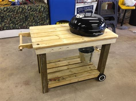 diy build a weber grill cart plans free