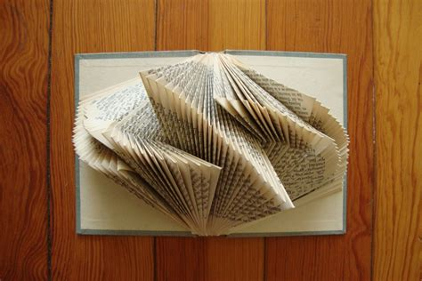 Origami Book Fold - looking glass books literary origami