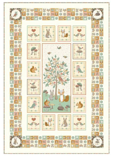 flower doodle quilt kit doodle days by makower quilt fabric woodland animals quilt kit