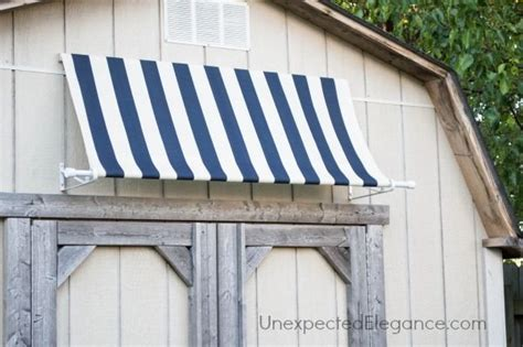 diy outdoor awning diy shed awning quick and easy indoor playhouse