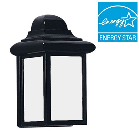 Homedepot Outdoor Lighting Sea Gull Lighting Polycarbonate 1 Light White Outdoor Wall Fixture 8720 15 The Home Depot