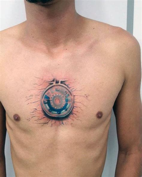 unique chest tattoos 70 iron designs for tony stark ink ideas