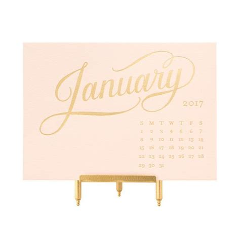 Pink And Gold Desk Calendar by Agenda Calendars Sugar Paper