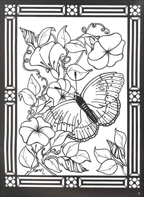 a breath of fresh flowers coloring book books stained glass coloring pages butterfly and flowers