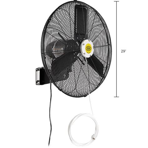 global oscillating wall mount fan 24 diameter evaporative coolers sw coolers misting fans 24