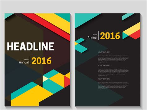 layout cover cdr annual report cover design free vector download 5 356