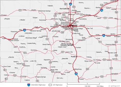 detailed map of colorado usa map of colorado cities colorado road map