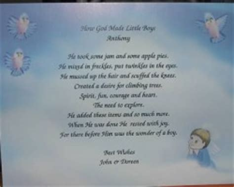 Baby Shower Poem For Boy by Boys Baby Shower Poems And Quotes Quotesgram