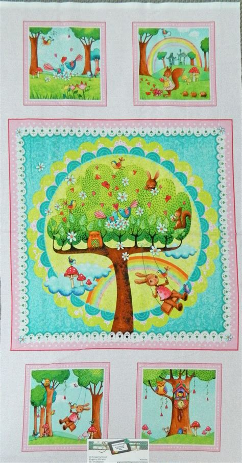 Patchwork And Quilting Fabric - patchwork quilting sewing fabric rainbow woodland rainbow