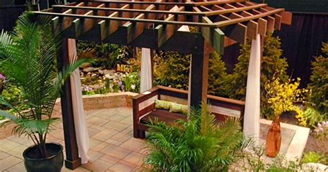 pergola with fabric asian inspired pergola with fabric drapings landscaping