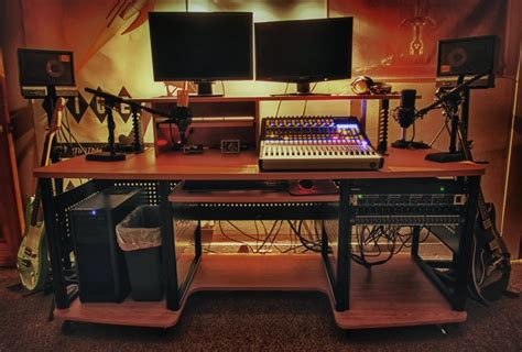 studio rack desk studio desk with rack mount whitevan