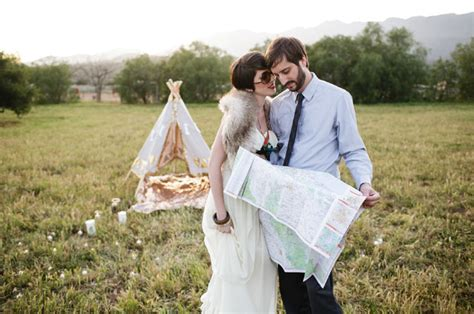 wes anderson inspired engagement photos green wedding wes anderson meets cing in a teepee day after photos