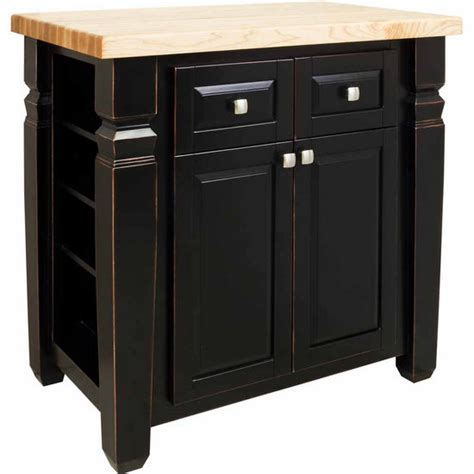 jeffrey kitchen island jeffrey loft kitchen island with maple edge grain butcher block top