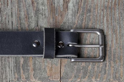 Handmade Belts Usa - american bison 1 1 2 quot casual belt charcoal handmade in