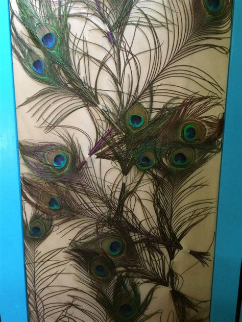 deco peacock sculptural floor l pair of peacock feather three panel folding floor screens