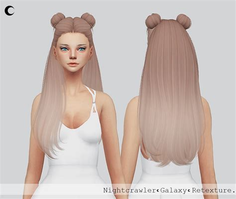 sims 4 half have hair sims 4 hairs kalewa a galaxy hair retextured