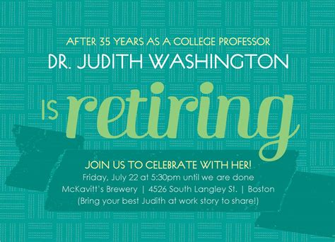 word templates for retirement invitations retirement party invitation template party invitations
