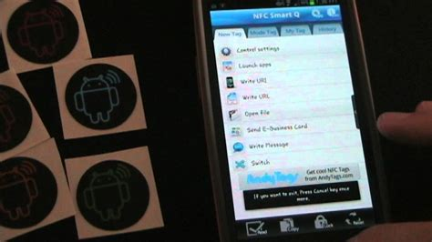 best nfc android app nfc tags with nfc smart q android app review