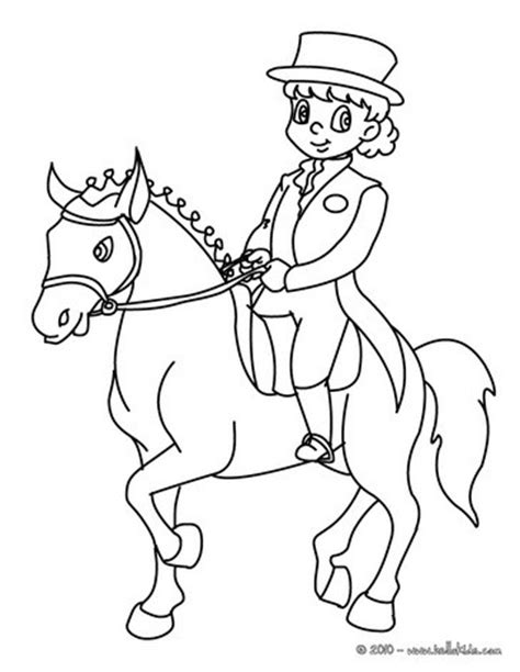 horse trainer coloring page young girl training a horse coloring pages hellokids com