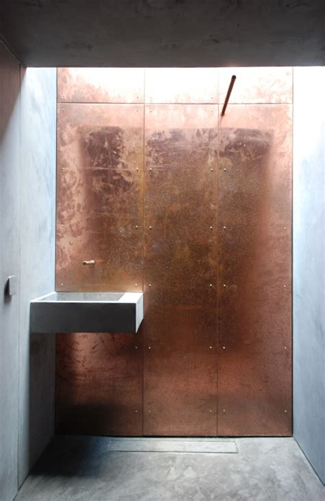 aaron lane copper tile conkwell pod bath uk copperconcept copper in architecture