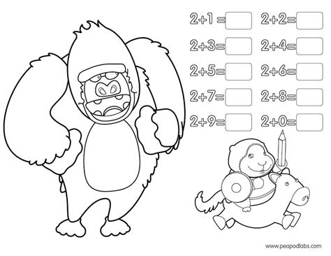 Free Coloring Pages Of Addition 2 Type Addition Coloring Pages