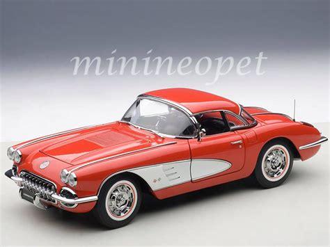 diecast cars corvette autoart 71148 1958 chevrolet corvette 1 18 diecast model