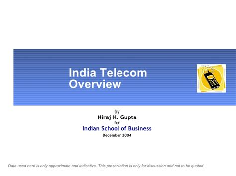 Mba Ppt On Telecommunication Industry by India Telecom