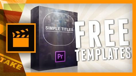 Designer Pack Simple Titles For Premiere Pro Cinecom Net Youtube Adobe Premiere Sports Templates
