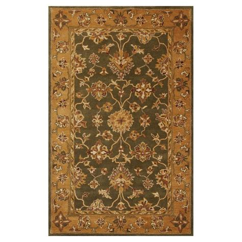 green and gold rug kas rugs traditional oushak green gold 5 ft x 8 ft area rug jai38585x8 the home depot