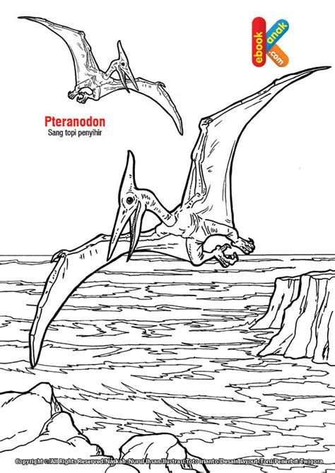 pteranodon reptil terbang mirip topi penyihir ebook anak