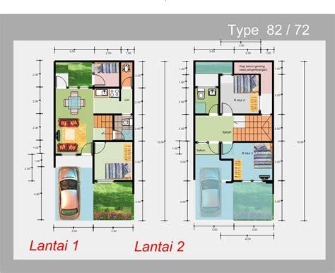 denah desain interior rumah minimalis denah rumah modern minimalis 2 dengan 4 kamar tidur