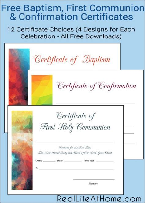 templates for confirmation certificates free printable baptism first communion and confirmation