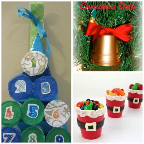 how to mske christmas ornaments with plastic cups 25 ways to re use your keurig s k cups happy hooligans