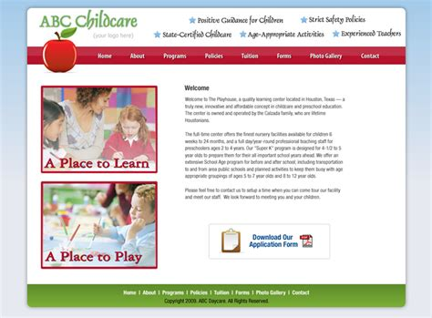 Daycare Website Templates Childcare Website Templates Cheap Day Care Website Designs Cheap Daycare Website Templates Free