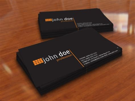 simple black personal business card template free vector