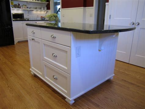 Kitchen Island Feet | another shot of the kitchen center island with beadboard