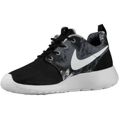 nike roshe one print womens shoes black cool grey