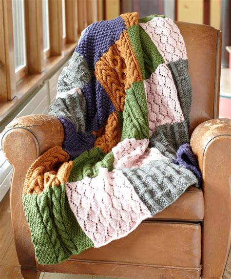 Patchwork Blanket Knitting Pattern - free knitting pattern patchwork sler throw todo