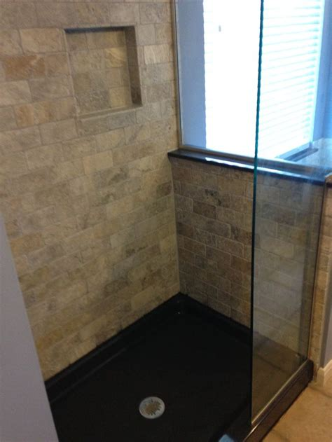 Onyx Collection Shower Base by Travertine Subway Wall Tile And Shower Niche The Onyx Collection Shower Base And Wall Cap In