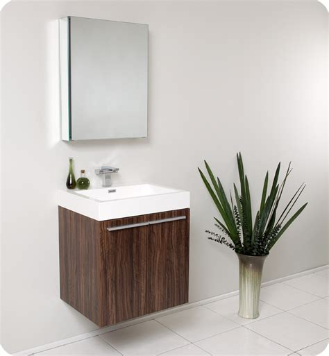 fresca alto walnut modern bathroom vanity with medicine