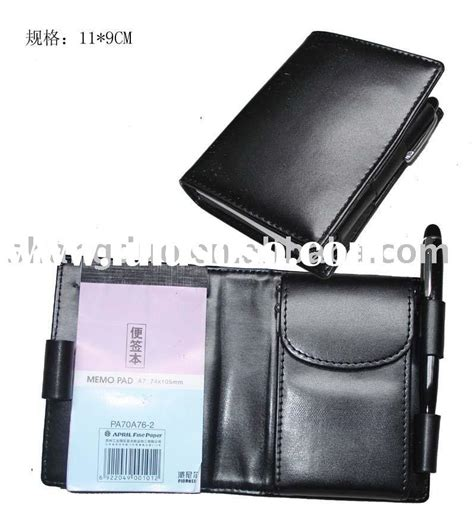 Memo Leather Card Holder Pen 1 leather memo pad jotter w card holder w pen for sale price china manufacturer supplier 187878