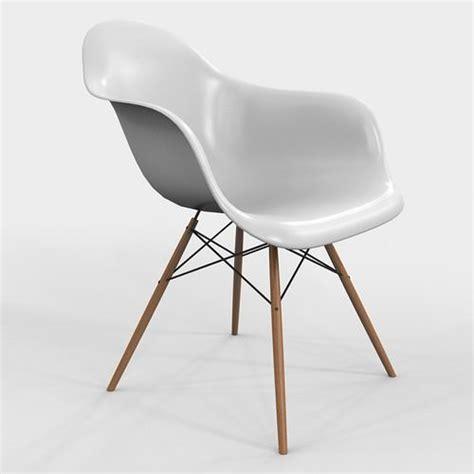 armchair vitra daw eames plastic 3d model max cgtrader