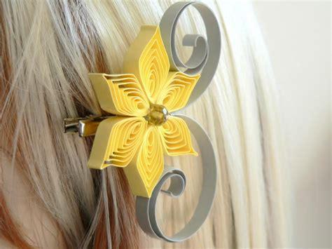 yellow hair accessories wedding yellow and gray wedding hair accessory bridesmaid gift