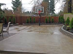 the concrete slab basketball court is great exercise for the whole family southeast olympia