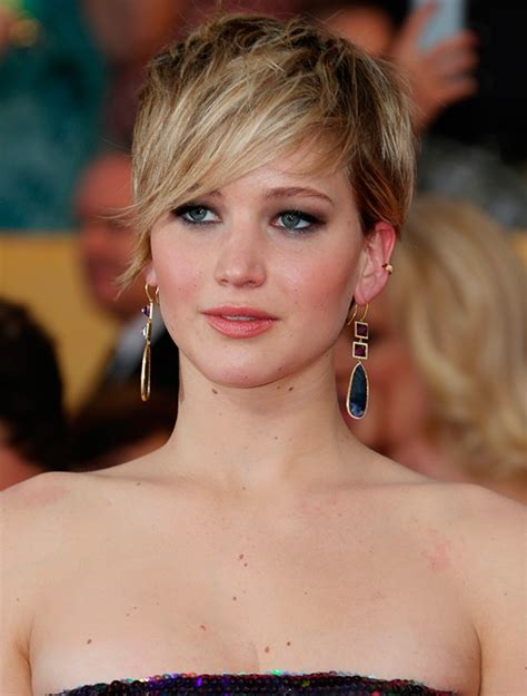 2014 short hairstyles for round faces jennifer lawrence short hair 2014 short hairstyles for round faces jennifer lawrence