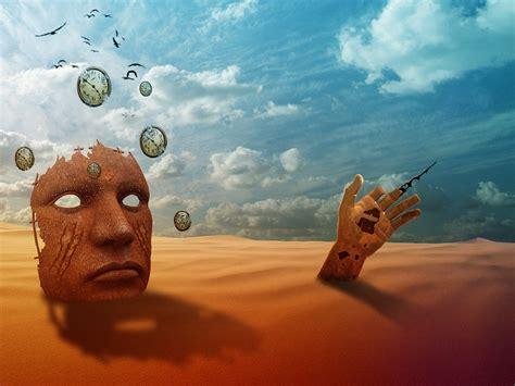 imágenes surrealistas fotomontajes ilustraci 243 n gratis tiempo desierto soledad imagen