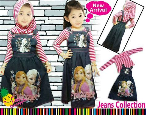 Pineapple Frozen Set With Jilbab Lp Gamis All Frozen 2